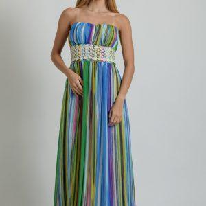 Φόρεμα maxi strapless πολυμορφικό