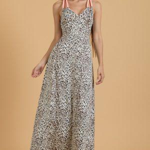 Φόρεμα mini animal print