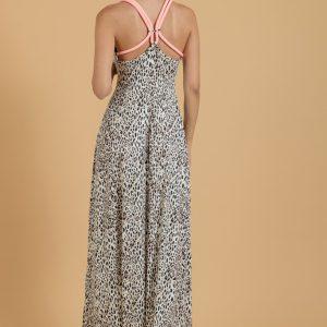 Φόρεμα maxi animal print