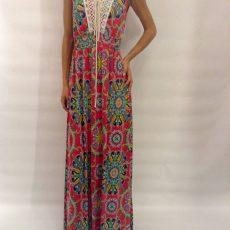 Φόρεμα μάξι με ανοικτή πλάτη