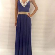Φόρεμα maxi με V λαιμόκοψη