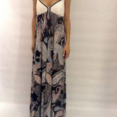Φόρεμα maxi με μπούστο από δαντέλα