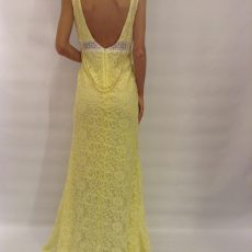 Maxi mermaid φόρεμα από δαντέλα