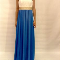 Strapless φόρεμα από μουσελίνα και δαντέλα