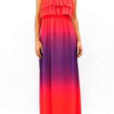 Maxi strapless φόρεμα από μουσελίνα