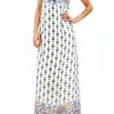 Strapless σατέν maxi φόρεμα