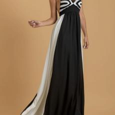 Φόρεμα maxi με πλεκτό top