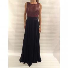 Maxi φόρεμα μουσελίνα με ανοικτή πλάτη