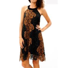 Mini φόρεμα δαντέλα με χαμηλή πλάτη