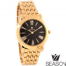 Γυναικείο ρολόι 6-2-49-2 χρυσό-μαύρο