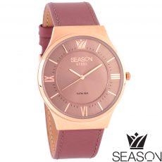 Γυναικείο ατσάλινο ρολόι χρώμα ροζ