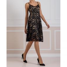 Φόρεμα δαντέλα midi σε γραμμή Α