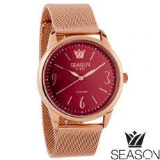 Γυναικείο ρολόι 6-4-4-8 ροζ-χρυσό