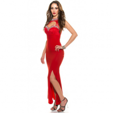 Maxi βραδινό φόρεμα με ανοικτή πλάτη