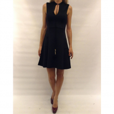 Mini φόρεμα αμάνικο σε γραμμή Α