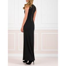 Maxi φόρεμα με σκίσιμο και κουμπιά