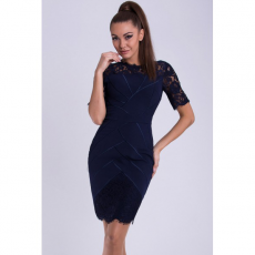 Mini φόρεμα με δαντέλα στα μανίκια