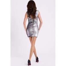 Mini ασημί φόρεμα με παγιέτες