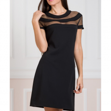 Mini φόρεμα με διαφάνειες στo ντεκολτέ