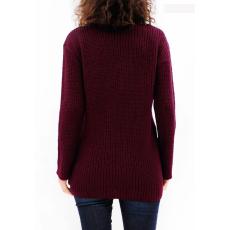 Γυναικείο πουλόβερ με V λαιμόκοψη