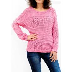 Γυναικείο πουλόβερ με λαιμόκοψη χαμόγελο