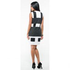 Mini ασπρόμαυρο φόρεμα