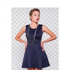 Mini φόρεμα μονόχρωμο σε γραμμή Α