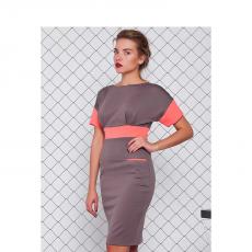 Φόρεμα mini με κοντά μανίκια