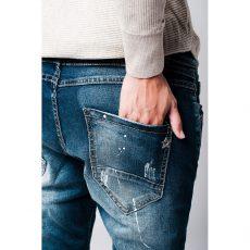 Boyfriend jeans με σκίσιμο και κουμπιά