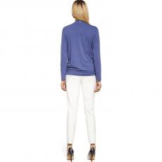 Γυναικείο λευκό παντελόνι με τσέπες