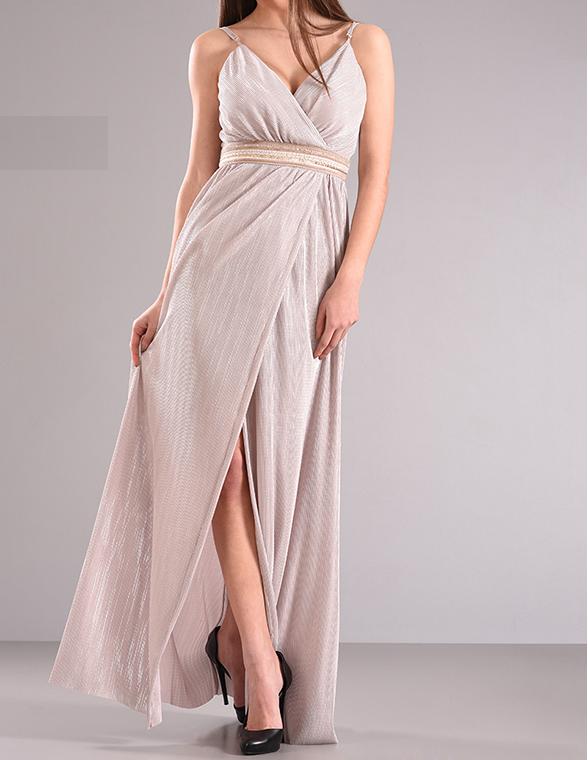 Maxi φόρεμα με σκίσιμο μπροστά