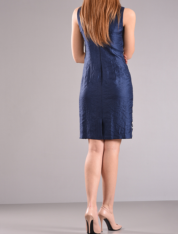 Φόρεμα σε ίσια γραμμή σε μπλε χρώμα