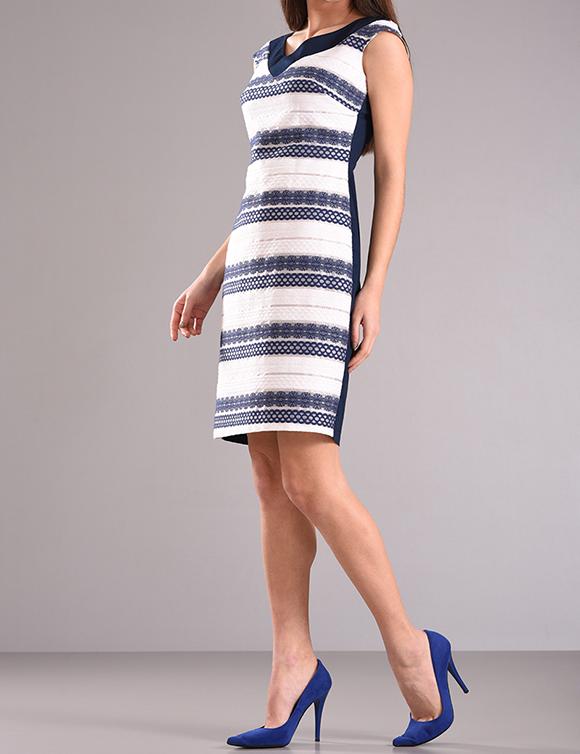 Φόρεμα εμπριμέ χωρίς μανίκια