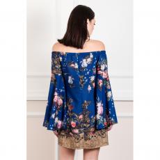 Mini φόρεμα με μανίκια καμπάνα