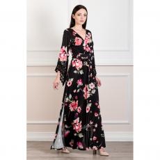 Ελαστικό maxi φόρεμα με διπλό σκίσιμο