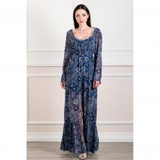 Maxi φόρεμα-καφτάνι από μουσελίνα