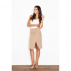 Midi μονόχρωμη φούστα με άνοιγμα