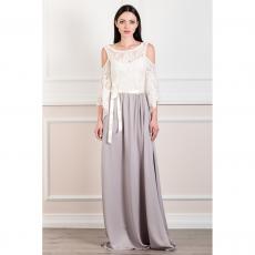 Ρομαντικό maxi φόρεμα με γυμνούς ώμους