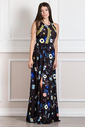 Maxi φόρεμα καφτάνι με ανοικτή πλάτη