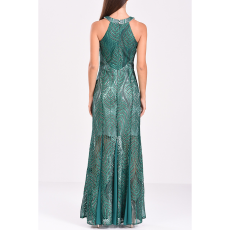 Maxi φόρεμα από δαντέλα με διαφάνειες