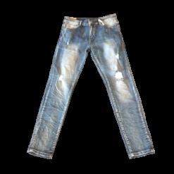 Παντελόνι jean γυναικείο με έντονα ξεβάματα