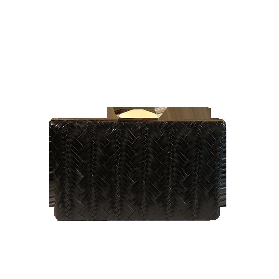 Χρυσό ανάγλυφο γυναικείο clutch bag