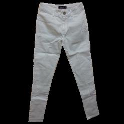 Λευκό παντελόνι jean με σκισίματα
