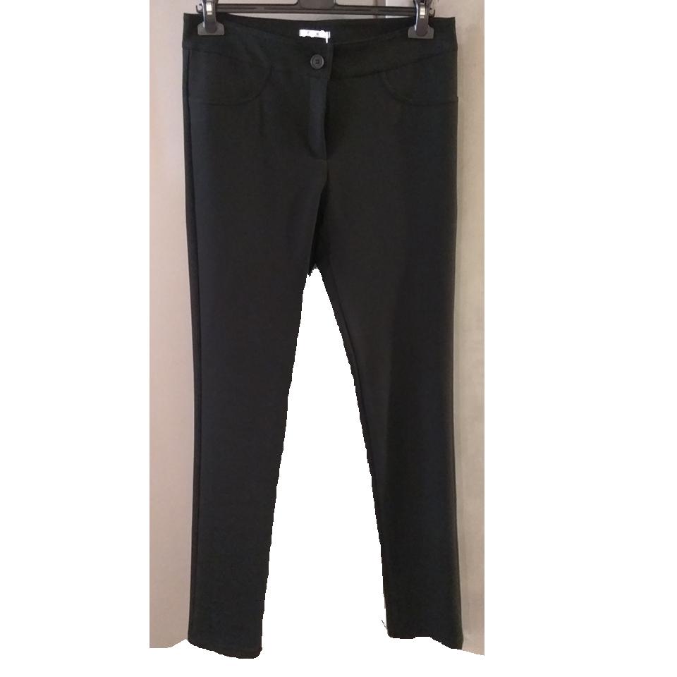 Μαύρο ενισχυμένο κολάν με πίσω τσέπες