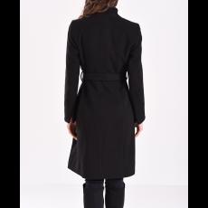 Μακρύ παλτό με κουμπιά και δέσιμο στην μέση