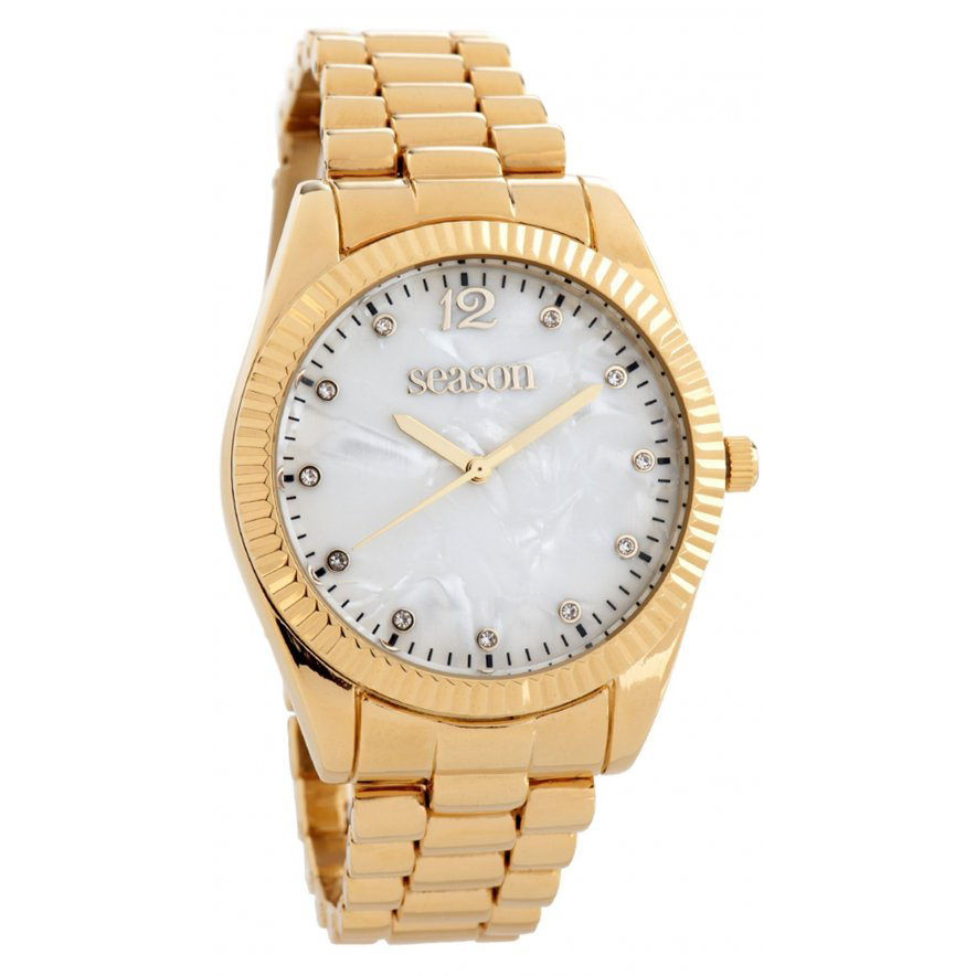 Γυναικείο ρολόι 6-2-48-9 με χρυσό μπρασελέ