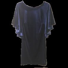 Βελούδινο κοντό φόρεμα με βολάν στα μανίκια