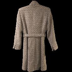 Γυναικείο tweed παλτό με κουμπιά και ζώνη