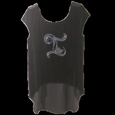 Βελούδινη αμάνικη ασύμμετρη μπλούζα