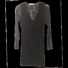 Κοντό βελούδινο φόρεμα με μακριά μανίκια